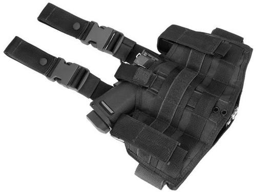 Phantom Gear Navy Seal Drop Leg Thigh Holster Rig - Black