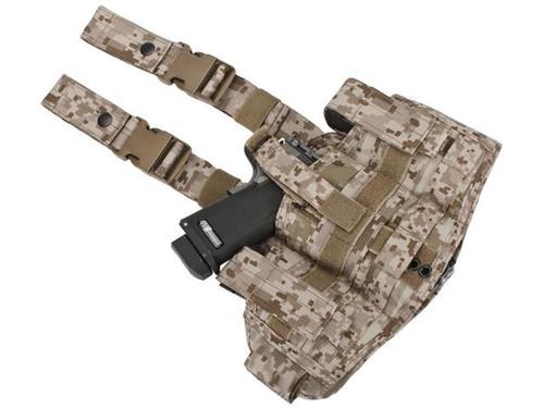 Phantom Gear Navy Seal Drop Leg Thigh Holster Rig - Digital Desert Marpat