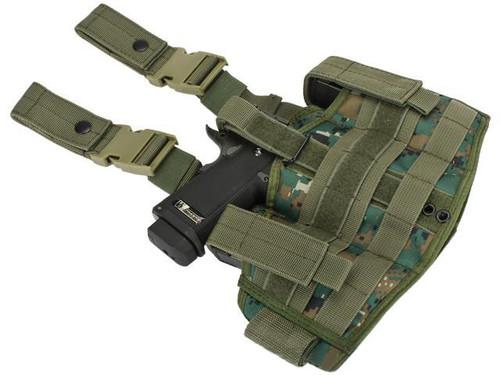 Phantom Gear Navy Seal Drop Leg Thigh Holster Rig - Digital Woodland Marpat