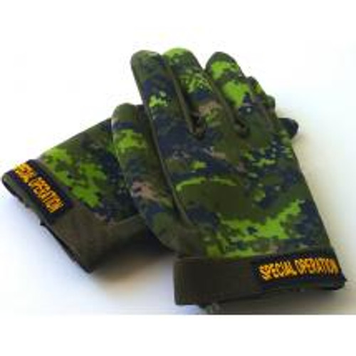 Neoprene Combat Gloves - Canadian Digital Pattern