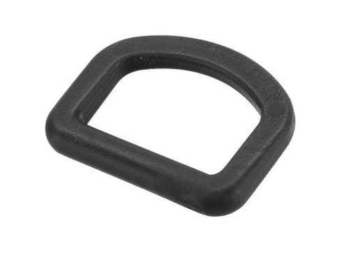TMC X-Con Flat 1 Inch Polymer D-Ring (Color: Black)