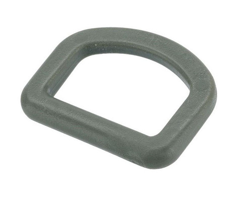 TMC X-Con Flat 1 Inch Polymer D-Ring (Color: Foliage Green)