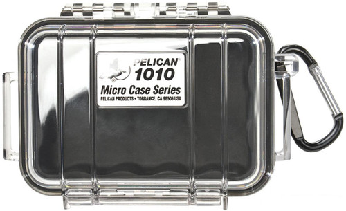 Pelican™ 1010 Micro Case - Clear w/ Black Colored Lining