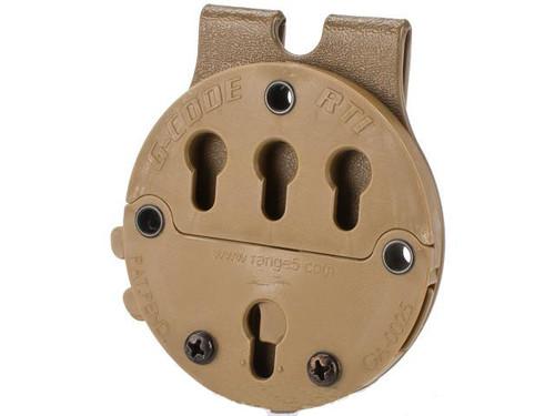 G-Code RTI Battle Belt MOLLE Holster Adaptor - Coyote Brown