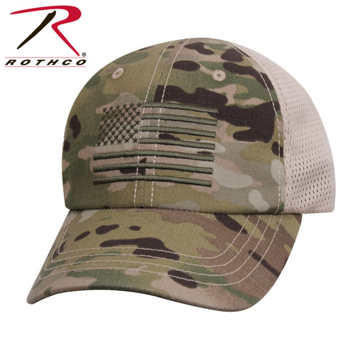 Olive Drab Tactical Operator Hat W//Embroidered US Flag Low Pro Hat 4633 Rothco