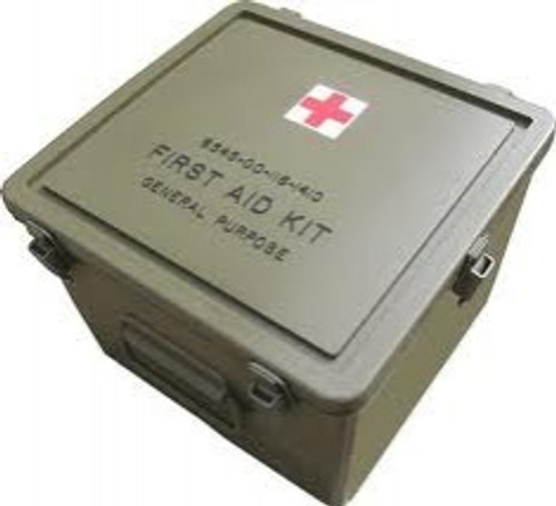 U.S. Armed Forces First Aid Kit Container - Empty