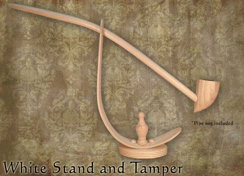 MacQueen Pipes White Hardwood Stand and Tamper