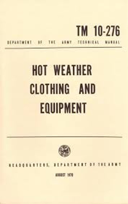 Manual - Hot Weather Clothing and Equipment