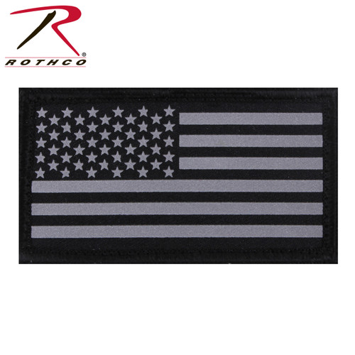 Rothco Reflective Flag Patch w/Hook Back