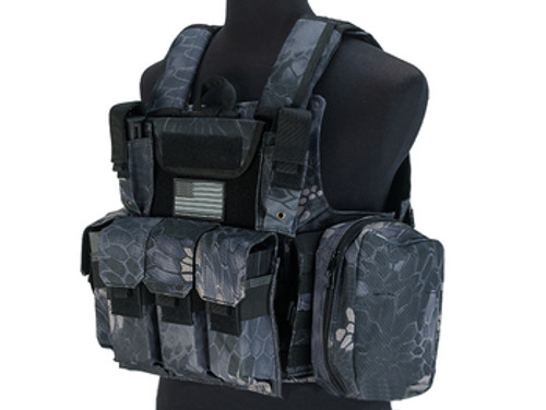 USMC Style C.I.R.A.S. Type Force Recon Tactical Vest w/ Full Pouch System - Urban Serpent