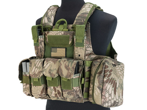 USMC Style C.I.R.A.S. Type Force Recon Tactical Vest w/ Full Pouch System - Forest Serpent