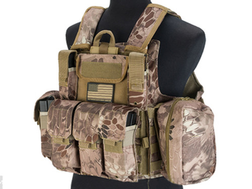 USMC Style C.I.R.A.S. Type Force Recon Tactical Vest w/ Full Pouch System - Arid Serpent