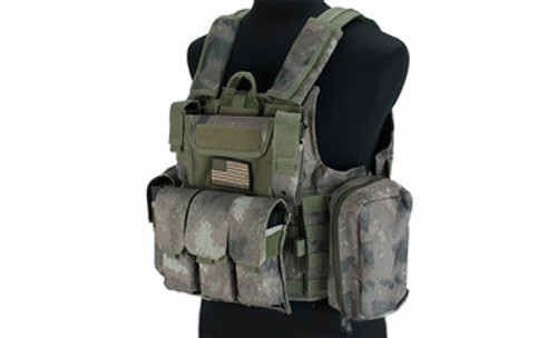 USMC Style C.I.R.A.S. Type Force Recon Tactical Vest w/ Full Pouch System - Arid Foliage