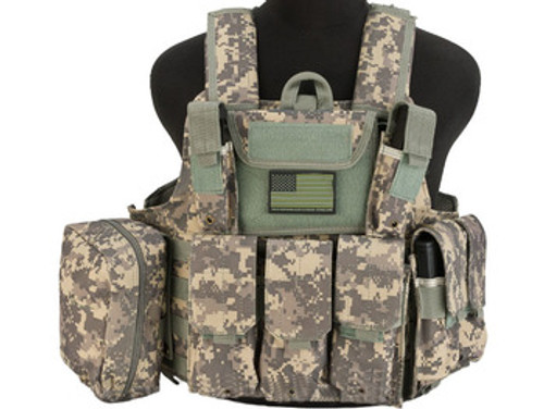 USMC Style C.I.R.A.S. Type Force Recon Tactical Vest w/ Full Pouch System - ACU