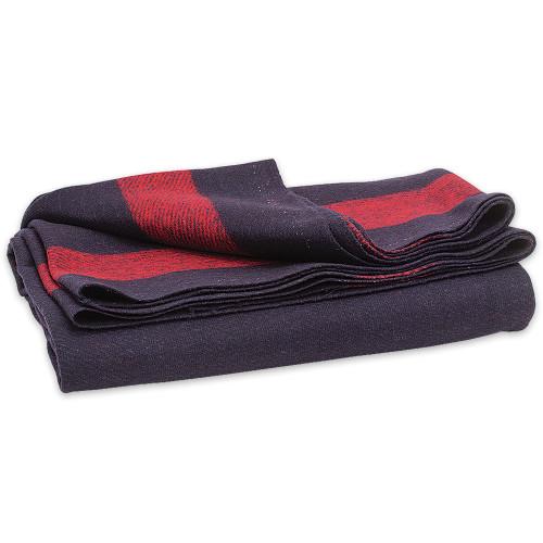"""Vintage Blue Wool Blanket - 60"""" x 80"""""""