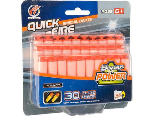 Super Power Strike Elite Universal Suction Darts - 30 Pack
