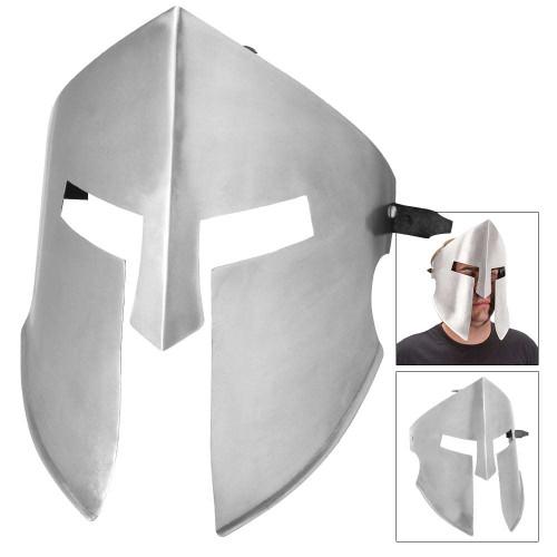 20-Gauge Iron Spartan Battle Mask – Silver