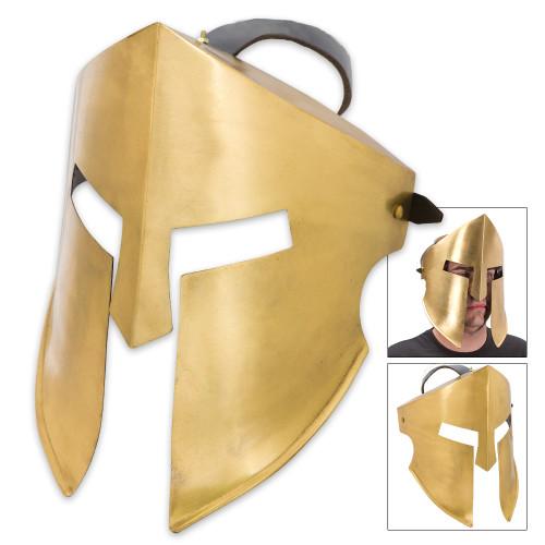 20-Gauge Iron Spartan Battle Mask – Brass