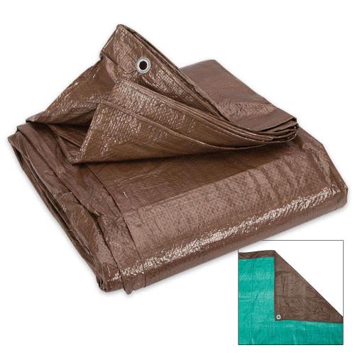Brown And Green Reversible Tarp – 10'x 20'