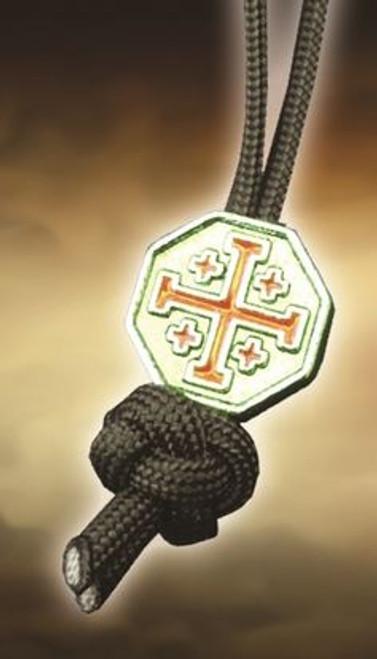 Spartan Blades Lanyard Crusader Cross - Black