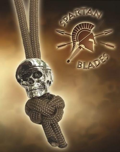 Spartan Blades Lanyard Beret Skull - Tan