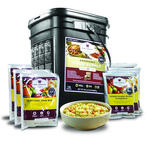 Wise Company 120 Servings of Wise Emergency Survival Food Entrees