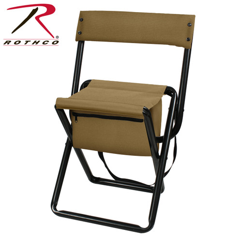 Rothco Deluxe Stool w/Pouch - Coyote Brown