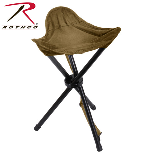 Rothco Collapsible Stool w/Carry Strap - Coyote Brown