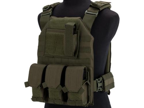 Matrix MTS Commando Elite Plate Carrier Vest (Color: OD Green)