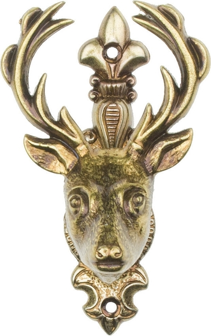 Deer Head Hanger Brass