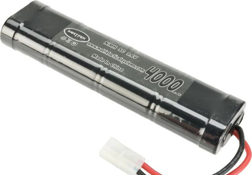 9.6V 4000mAh NiMh High Output Airsoft RC battery by Matrix - Large Type