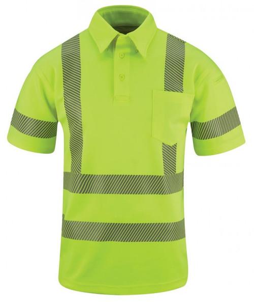 Propper Men's ANSI III Performance Polo Short Sleeve - Hi-Viz Yellow