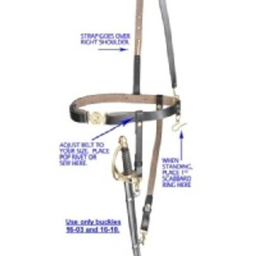 Civil War Sword Belt w/Strap