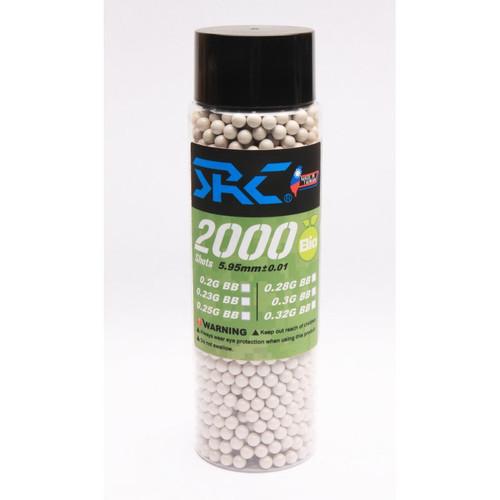 SRC Biodegradable Airsoft BB 0.25g 2000R Bottle