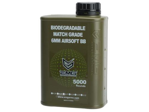 EMG International Match Grade Biodegradable 6mm Airsoft BBs - 5000 Rounds (Weight: .25g)