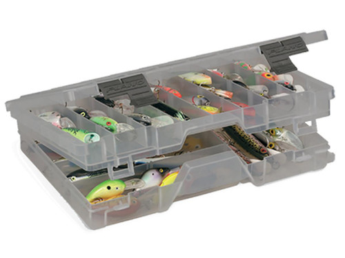 Plano Guide Series™ Large Two-Tiered 3700 Stowaway® Utility  Storage  Organizer Box (Color Smoke)