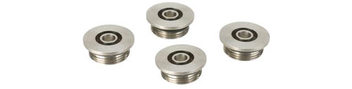 SAT Modified Parts 4 Pack Stainless Steel Shotshell End Caps for Classic Army / APS CAM870 Gas Airsoft Shotguns