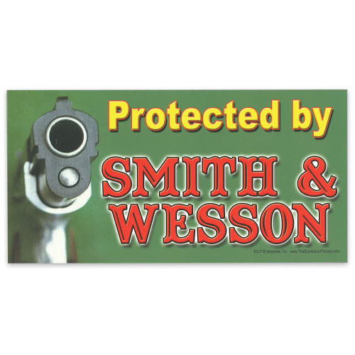 "Car Magnet - ""Protected by Smith & Wesson"""