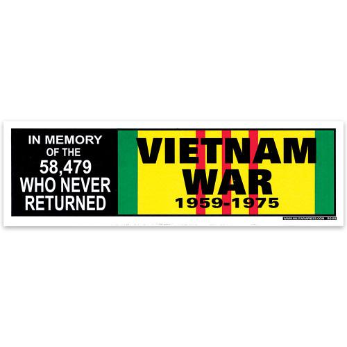 Bumper Sticker -  In Memory Of Vietnam