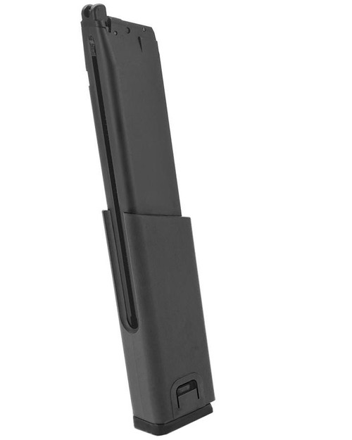 KWA Full Metal 49rd Magazine with Polymer Spacer for KWA SMG45 Airsoft GBB SMG (Color: Black)