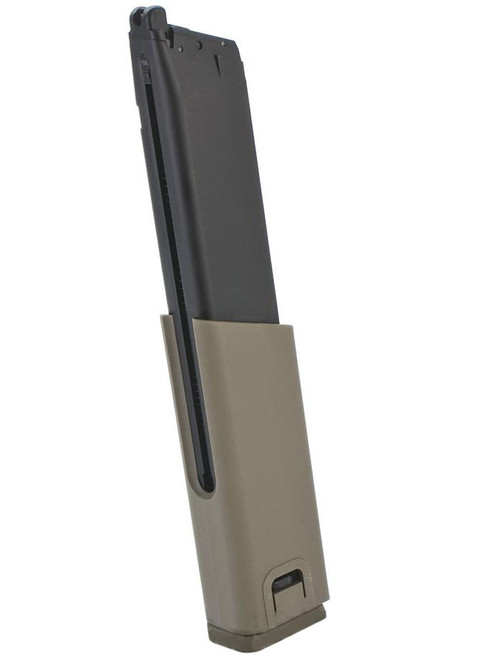 KWA Full Metal 49rd Magazine with Polymer Spacer for KWA SMG45 Airsoft GBB SMG (Color: Desert Tan)