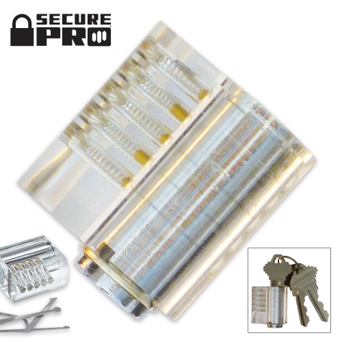 Secure Pro Clear Standard Pin Practice Lock