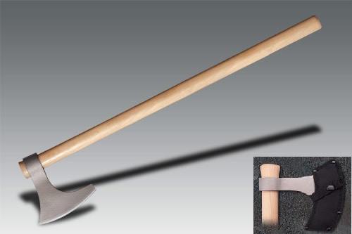 Cold Steel 90WVBA Viking Hand Axe 1055 Carbon w/ Nylon Sheath