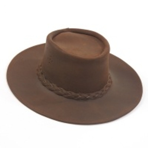 Old West Leather Slouch Hat