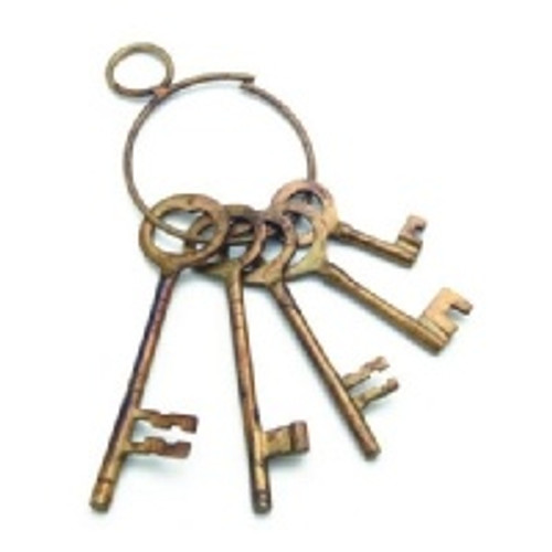 Western Jailer's Keys - Brass
