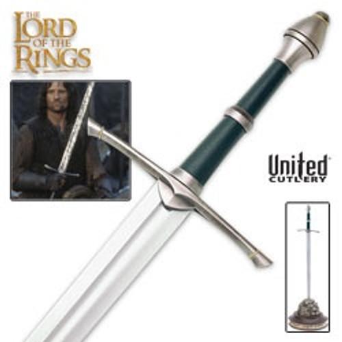 United UC1299 LOTR Sword Of Strider w/Display Plaque