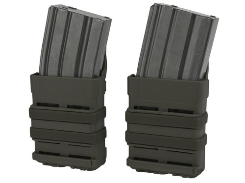 Matrix Fast Hard Shell Magazine Holster - 2x Rifle Mag Configuration (Color: OD Green)