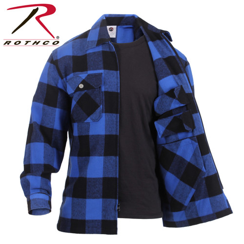 Rothco Concealed Carry Flannel Shirt - Blue