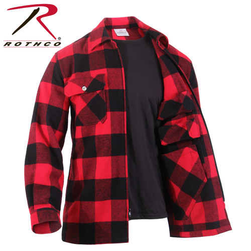 Rothco Concealed Carry Flannel Shirt - Red