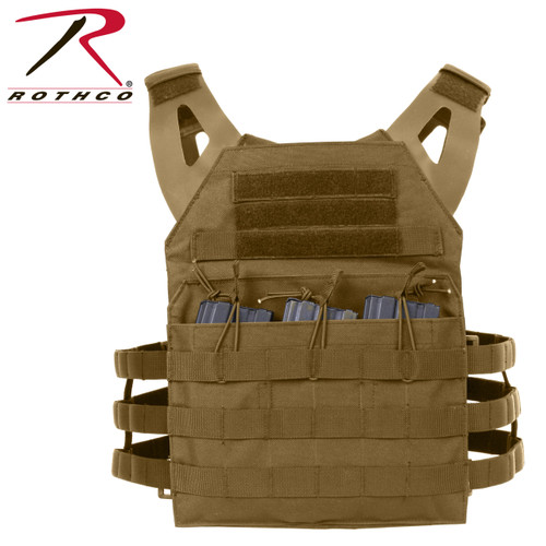 Rothco Lightweight Plate Carrier Vest - Coyote Brown